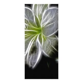 Lirio blanco eléctrico hermoso plantilla de lona