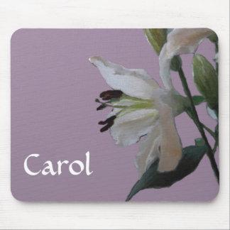 Lirio blanco floral mousepads