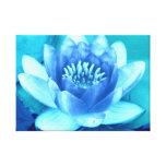 Lirio de agua azul de la aguamarina de la lona impresión en lona