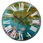 Lirio de agua de Claude Monet en giverny Reloj Redondo Grande