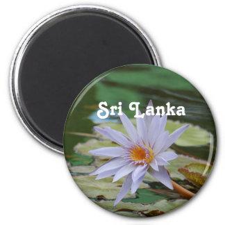 Lirio de agua de Sri Lanka Imán Redondo 5 Cm