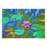 Lirio de agua del cojín de lirio de Lotus en un ja Impresión Fotográfica