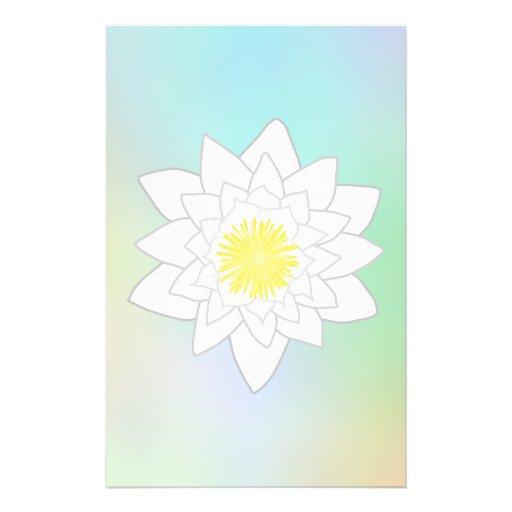 """Lirio de agua en fondo en colores pastel bonito folleto 5.5"""" x 8.5"""""""