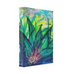 Lirio de agua esmeralda lienzo envuelto para galerías