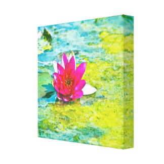 Lirio de agua Lilypad Impresión En Lienzo