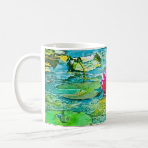 Lirio de agua Lilypad Taza De Café
