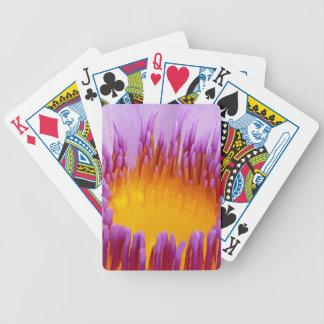 Lirio de agua púrpura afortunado de la flor de Lot Baraja Cartas De Poker