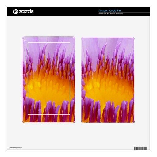 Lirio de agua púrpura afortunado de la flor de Lot Pegatinas Skins Para Kindle Fire