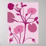 lirio de agua rosado posters