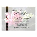 Lirio de agua rosado Sunlit Invitación Personalizada