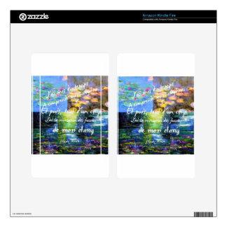 Lirio de agua y fascinación de Monet Kindle Fire Skins