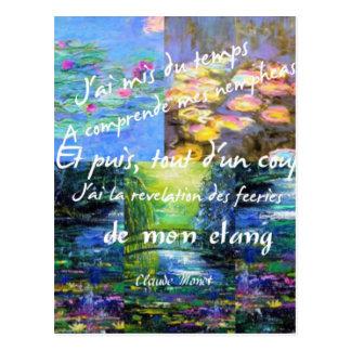 Lirio de agua y fascinación de Monet Postales