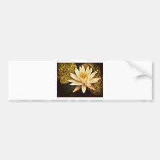 Lirio de charca amarilla etiqueta de parachoque