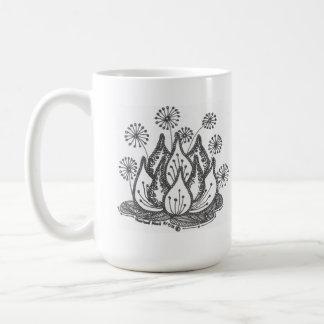 Lirio de charca del fuego artificial tazas de café