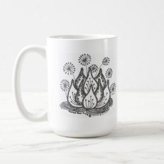 Lirio de charca del fuego artificial taza clásica