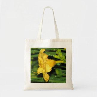 Lirio de día amarillo bolsas lienzo