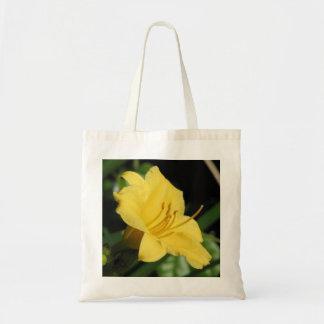 Lirio de día amarillo bolsa lienzo