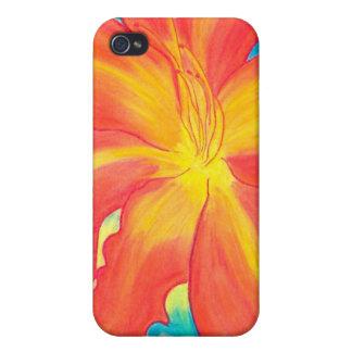 Lirio de día anaranjado iPhone 4/4S funda
