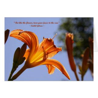 Lirio de día anaranjado tarjeta