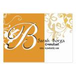 Lirio de día floral moderno del monograma plantilla de tarjeta de negocio
