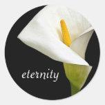Lirio de la eternidad pegatina redonda