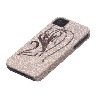 Lirio de leopardo carcasa para iPhone 4 de Case-Mate