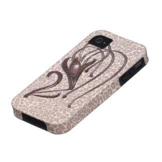Lirio de leopardo vibe iPhone 4 carcasas