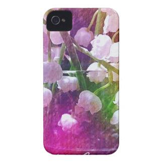 Lirio de los valles colorido bonito botánico funda para iPhone 4 de Case-Mate