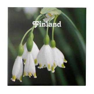 Lirio de los valles de Finlandia Azulejos