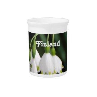 Lirio de los valles de Finlandia Jarra De Beber