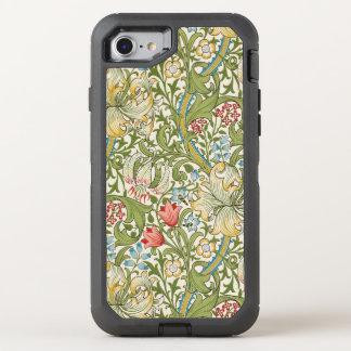 Lirio de oro de William Morris floral Funda OtterBox Defender Para iPhone 7