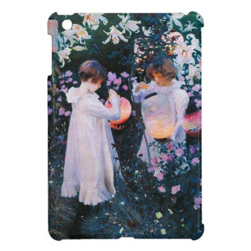 Lirio del lirio del clavel de John Singer Sargent  iPad Mini Protectores