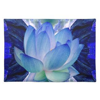 Lirio del loto azul mantel individual