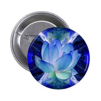 Lirio del loto azul pin