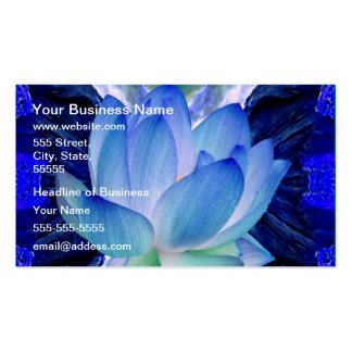 Lirio del loto azul tarjetas de visita