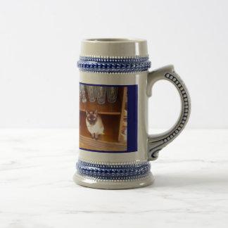 ¡Lirio la consumición del gato! Taza De Café