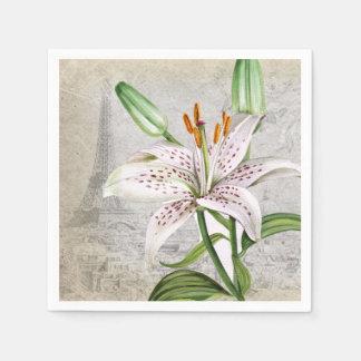 Lirio macro de la flor servilletas desechables