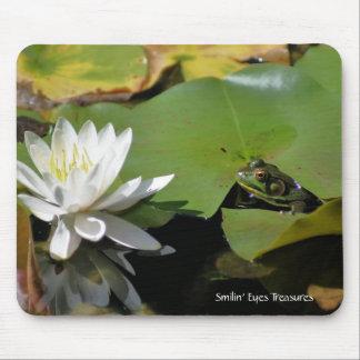 Lirio Mousepad de la rana y de agua Alfombrilla De Raton