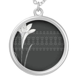 Lirio negro collares personalizados