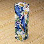 Lirio, pintura floral cajas de vino