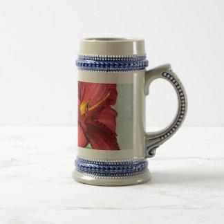 Lirio precioso jarra de cerveza