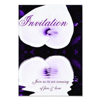 Lirio púrpura, invitación de Love_ Invitación 8,9 X 12,7 Cm