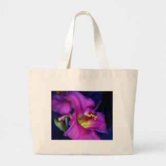 Lirio púrpura poético conmovedor bolsas