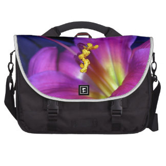 Lirio púrpura poético conmovedor bolsas de portatil