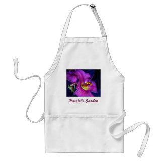 Lirio púrpura poético conmovedor delantal