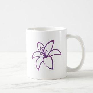 Lirio púrpura taza clásica