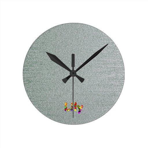 Lirio Reloj De Pared