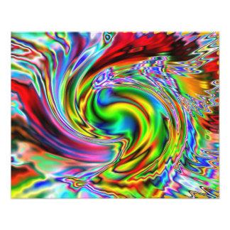 Lirio rojo Colorized Fotografia