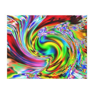 Lirio rojo Colorized Impresiones En Lienzo Estiradas