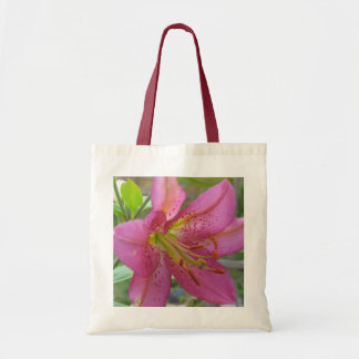 Lirio rosado bolsas lienzo